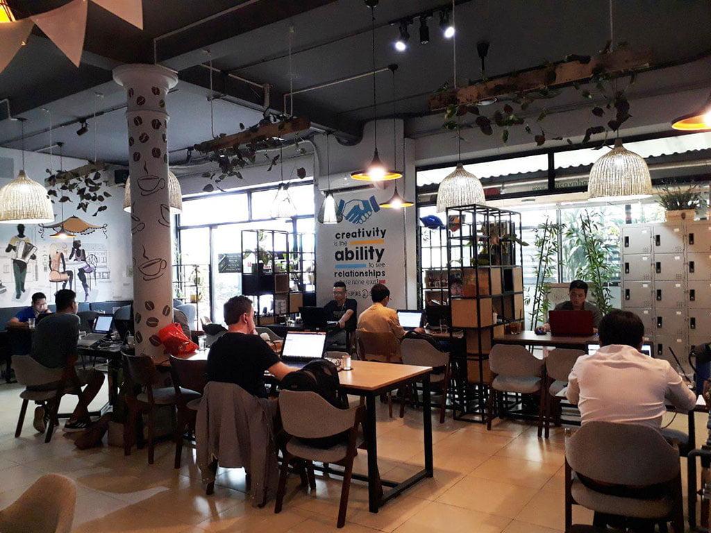 Cho thuê chỗ ngồi làm việc dành cho nhóm giá rẻ tại quận Phú Nhuận HCM The bib Space