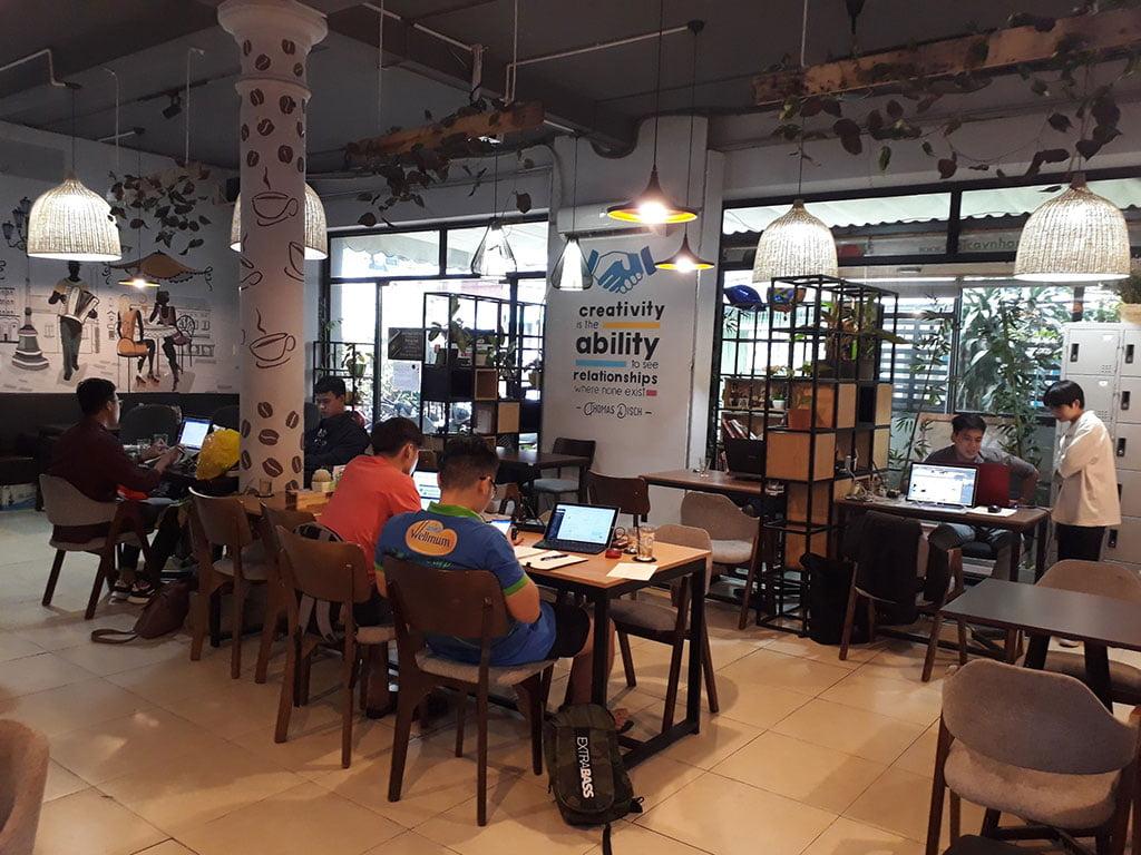 Cho thuê chỗ ngồi làm việc theo nhóm cố định giá rẻ tại quận Phú Nhuận The bib Space