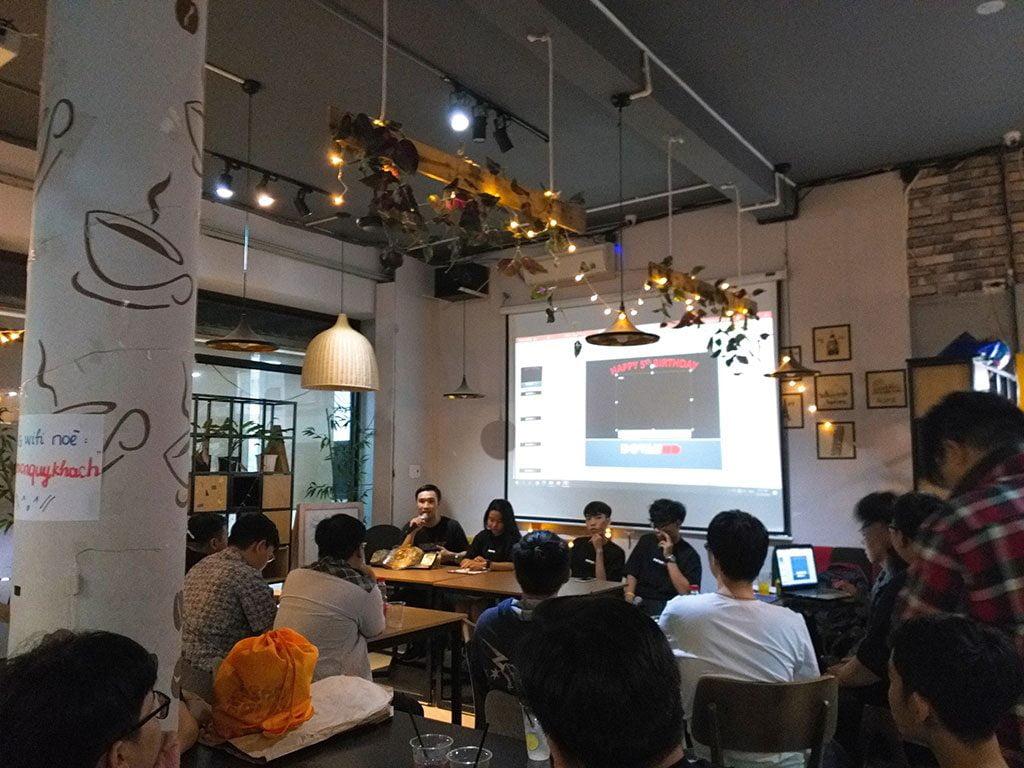 Cho thuê không gian hội nghị giá rẻ 30 người có thức uống tại quận Phú Nhuận HCM The bib Space