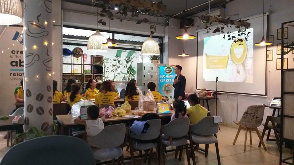 Không gian sự kiện buổi họp mặt các thành viên trong công ty 25 người giá rẻ tại quận Phú Nhuận HCM The bib Space