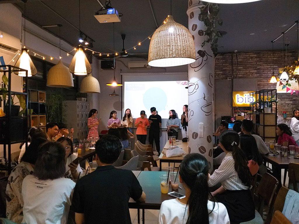 Tổ chức sự kiện họp câu lạc bộ 30 người có thức uống giá rẻ tại quận Phú Nhuận HCM The bib Space