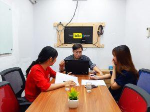 Cho thuê phòng làm việc 7 người Phú Nhuận HCM The bib Space