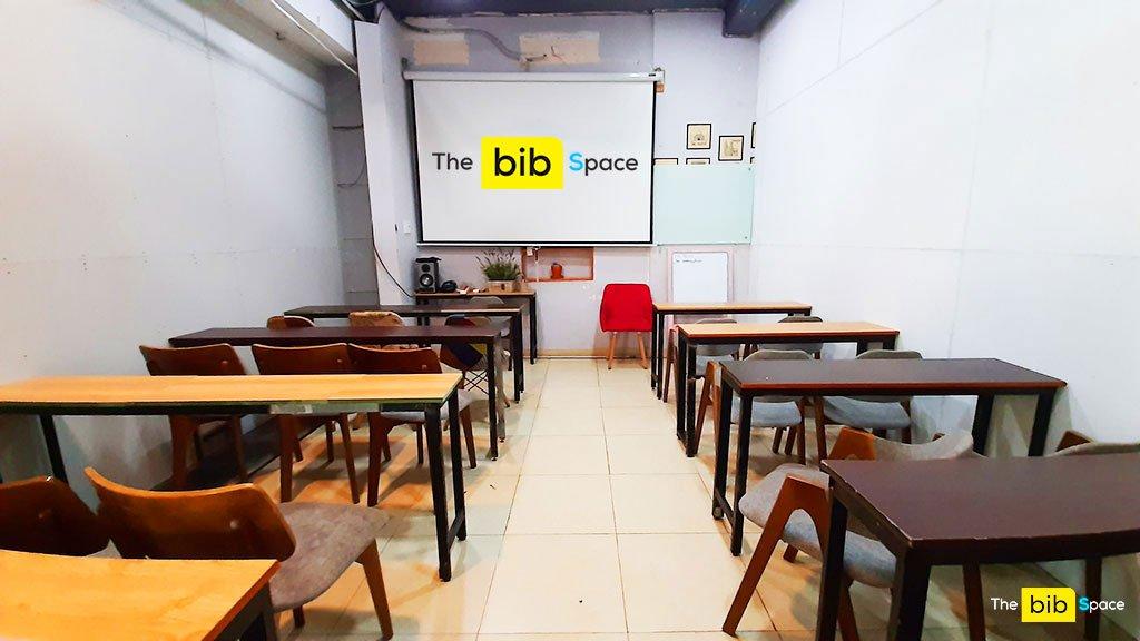 Cho thuê phòng họp nhóm training 20 người Phú Nhuận The bib Space