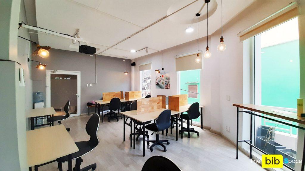Chỗ ngồi làm việc 1tr2/tháng quận Gò Vấp The bib Space