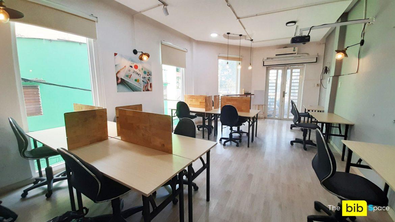 Cho thuê chỗ ngồi làm việc 1tr2/tháng The bib Space